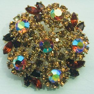 Vintage Crown Trifari Shades of Autumn Brooch